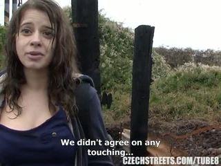 Чешки колеж момиче на открито секс за пари в брой