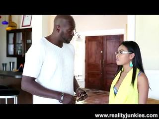 Big Black Cock for Petite Asian Teen with Glasses