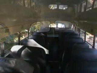 Sexy schoolgirl Gigi Rivera is slipped a schlong on the school bus