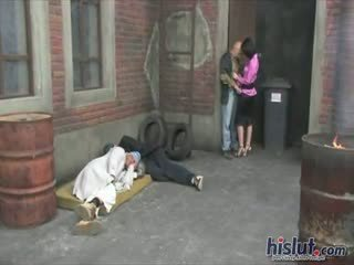 Aletta Ocean - These people get it on in an alley