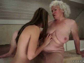 sexo lésbico, viejos y jóvenes, hd porno