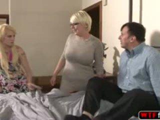 blowjob, ass, troje, blonde