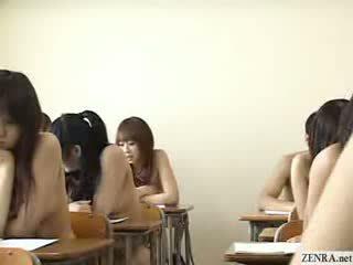 Japanese schoolgirls all go naked in school