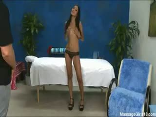 Hot, Sexy Brunette Gizelle Gives A Massage And A Little