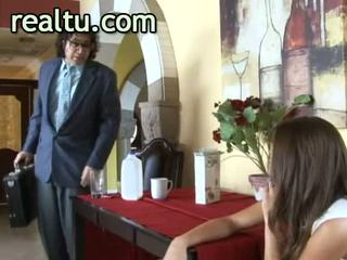 Amazing cheating wife shows her passion during hot