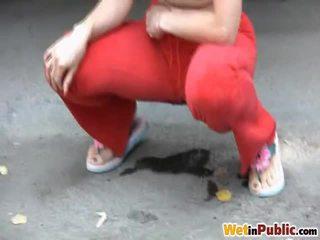 การปัสสาวะ ตลอด sporty pants