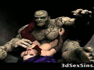 Scary ogres bang 3d niñas!
