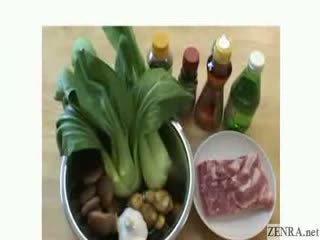 Yumi Kazama cooks dinner in the nude