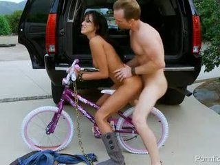 Brunette Breanne Benson Made Love Onto The Bicycle Big