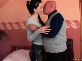 brunette, hardcore sex, oral sex, suck