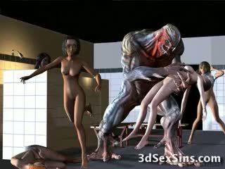 Aliens bang 3d cô gái!