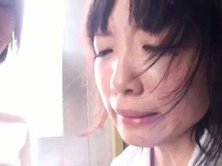 Three Asian schoolgirls have nasty bdsm sex together