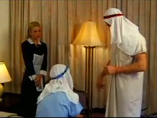 Demia Moor - Maid fucked by two guys