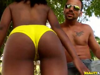 Big Titted Chocolate Woman Kiki Armani Has Unforgettably Made Love In The Garden