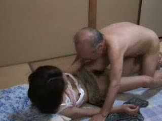 무료 일본의 큰, 뜨거운 딸 좋은, 할아버지 모든