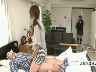 Subtitled japonsko šolarka bolnišnica milf presenečenje