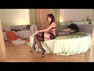Seductive Angel Kiss Begins To Feel Slutty Hot Alone In Her Room