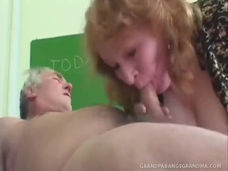 Strict Teacthis Chabr Sofya Canes Her Mature Trainee Onto His Bottom