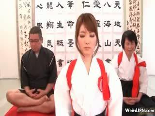 جذاب اليابانية karate فتاة أساء part6