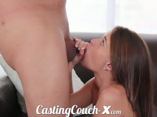 Casting couch-x georgia peach excited à faire porno pour $