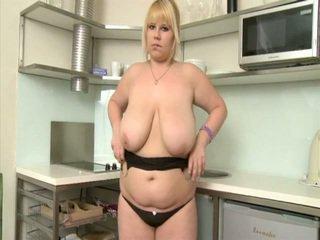 Junior Blonde Plumper Demonstrates Her Curves Inside Kitchen