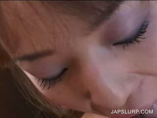 Blow Job in POV with bitchy jap