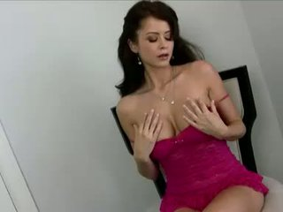 Horny nympho Emily Addison fills her hole with her wild fingers and loves it