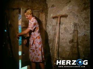Sexy bavarian bionda getting banged in il barn