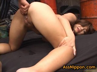 Yuka Matsushita Receives Her A Hole Drilled And Fingered