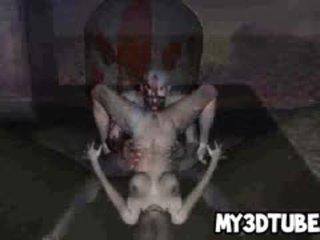 Two Horny 3D Cartoon Zombies Having Some Hot Sex
