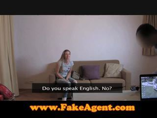 Blonde czech visits the fake casting agent