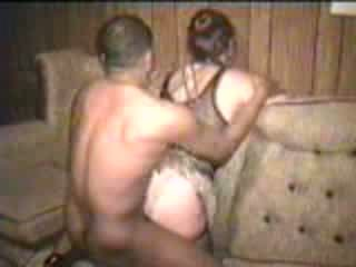 Mature white wife fucks black bf while hubby films Video