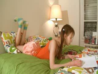 Ekkel homework av smart teenager