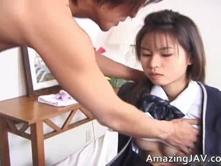 Nasty Japanese Coed Has Fingered