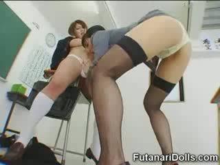 Futanari maly gets sucked!