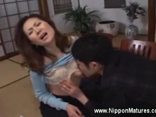 japanilainen, vanha, suullinen, mummi