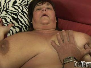 Дебеланки receives късметлия и enjoys а добър трудно weenie в тя corpulent путка