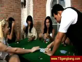 Poker playing trannies hit on a guy