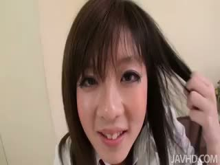 Japanese Schoolgirl Mao Miyazaki Sucking Dick In Her
