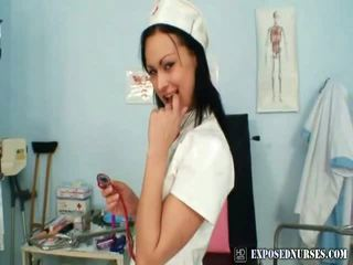 Hot Nurse Pavlina Put The Medical Instrument Up That Chabr Pussy