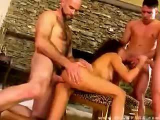 Olivia del rio banged על ידי שלוש dudes