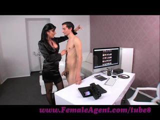 Femaleagent. virgin gets expert guidance से मिल्फ