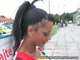 Naughty Exotic Girl Demonstrating Off Her Teeny Shape Shape