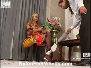 Florence lesley πονηρό νάιλον πόδια ταινία