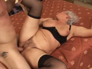 grandma, granny, big tits, hardcore