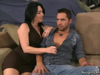 brunette, white, blowjob, naughty america