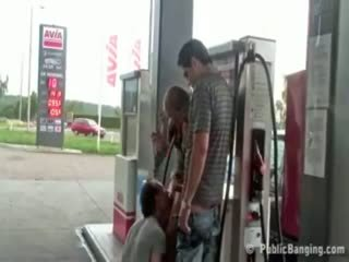 Extreme Public Sex At GasStation