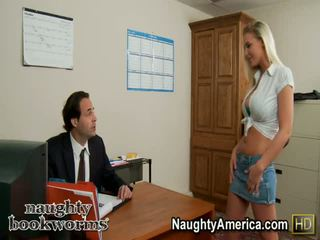 Blonde Madison Fox Office Porn Vid