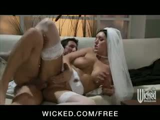 Dylan Ryder - NERVOUS BIG TIT BRUNETT WIFE FUCK BIG DICK BEFORE WEDDING IN GOWN