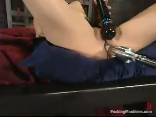 Sarah blake has got laid by a mighty screwing device in a cellar